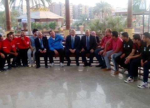 جامعة المنيا تشارك في افتتاح مركز إعداد القادة بحلوان