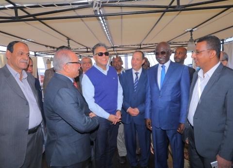 وزير النقل ونظيره السوداني يتفقدان هيئة وادي النيل للملاحة النهرية