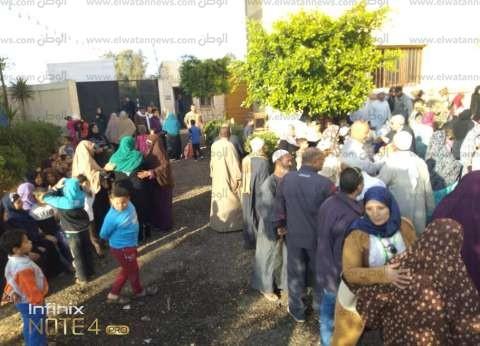 بالصور| تزايد أعداد الناخبين أمام لجان الاستفتاء بالغربية