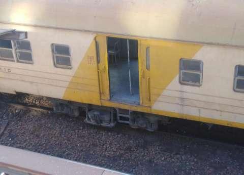 تعطل جرار قطار أمام قرية أنشاص الرمل في الشرقية