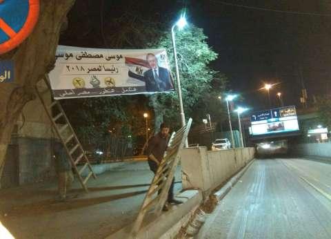 بالصور| بدء انتشار لافتات المرشح موسى مصطفى بمناطق القاهرة والجيزة