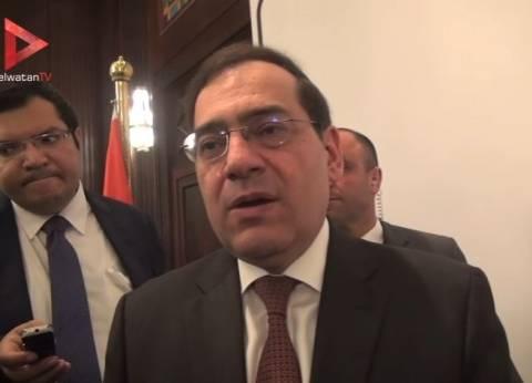 """وزير البترول: انتهاء حفر 7 آبار  بحقل """"ظهر"""" العملاق في البحر المتوسط"""