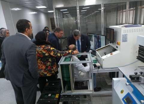 """""""الاقتصاد الرقمي"""" تبحث التعاون مع مصنع إلكترونيات """"العربية للتصنيع"""""""