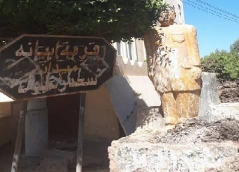 كفر الشيخ.. سعد زغلول يقف وسط «مقلب قمامة».. ومواطنون: حالته يرثى لها