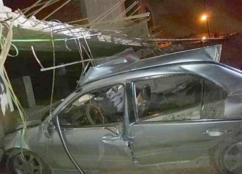 إصابة 8 في انقلاب ميكروباص على الطريق الزراعي بالبحيرة