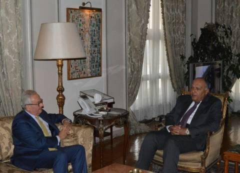سامح شكري يلتقي السفير الإيطالي الجديد