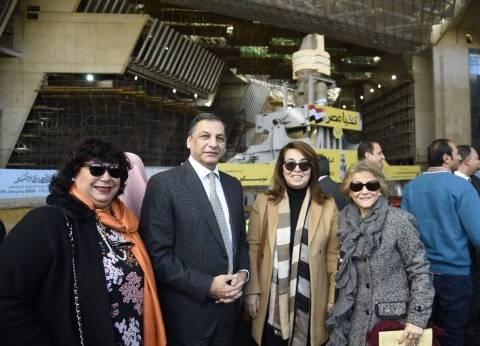 غادة والي تشارك في الاحتفال بنقل تمثال رمسيس إلى بهو المتحف الكبير