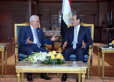 """""""أبومازن"""" يشيد بجهود """"السيسي"""" لدعم القضية الفلسطينية"""
