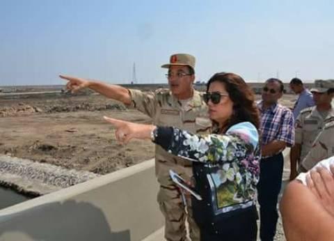منال ميخائيل تتفقد أعمال الإنشاءات في مدينة دمياط للأثاث