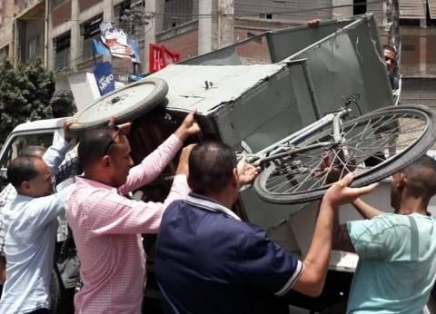 حملة لإزالة المخالفات والتعديات بوسط الإسكندرية