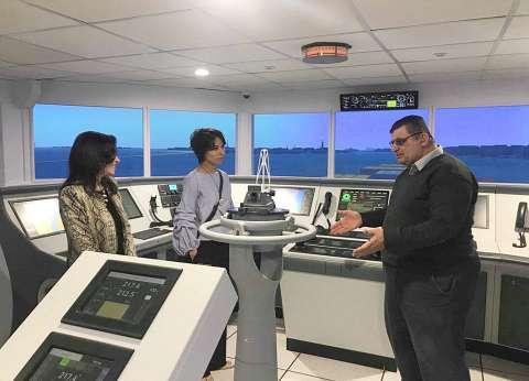 قنصل فرنسا بالإسكندرية تزور أكاديمية النقل البحري