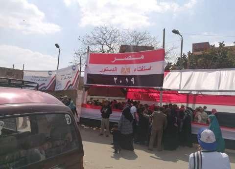 بالصور| إقبال أهالي منشأة ناصر على التصويت في ثاني أيام الاستفتاء