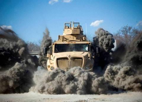 تفاصيل إصابة أمين شرطة في انفجار عبوة بمدرعة غرب العريش
