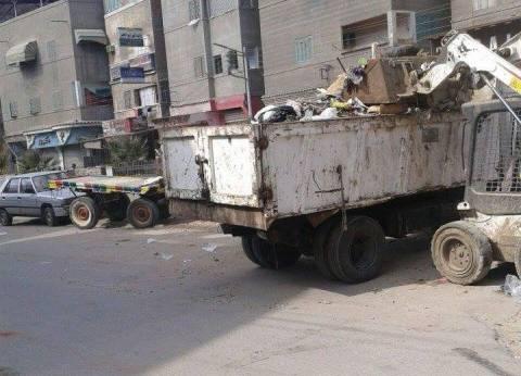 حملة نظافة مكثفة بعزبة البرج في دمياط