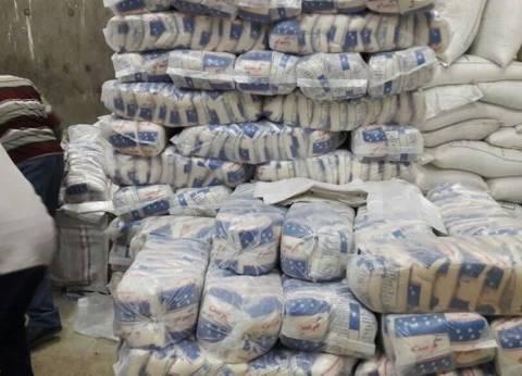 ضبط 75 طن سكر بمخزن بقال تمويني في مركز أبوقرقاص بالمنيا