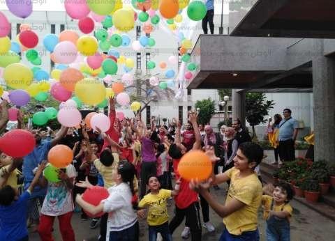 """حديقة مستشفى أطفال المنصورة تتحول لـ""""ساحة عيد"""""""