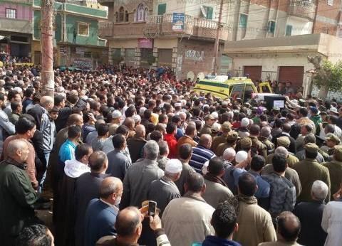 """الضهرية تودع """"أحمد صبحي"""" شهيد سيناء بحضور المستشار العسكري بالبحيرة"""