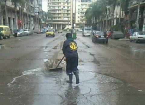 الطقس السيئ يضرب الإسكندرية.. وسقوط أمطار غزيرة