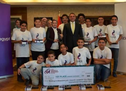 المصرية للاتصالات تكرم الفائزون بالمركز الأول في مسابقة الروبوت العالم
