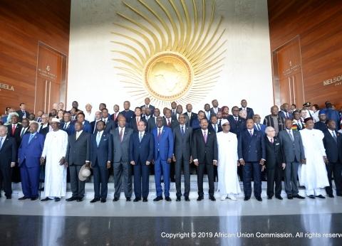 يتوسطهم السيسي.. الصورة الرسمية لقادة إفريقيا قبل تسلم رئاسة الاتحاد