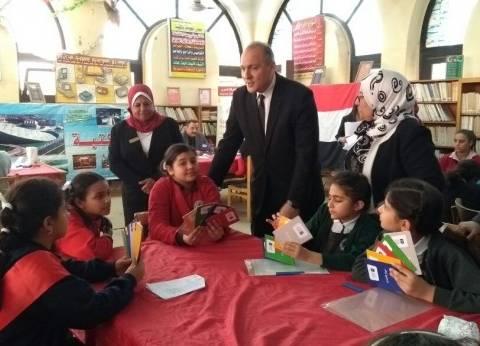 """مدير """"تعليم القاهرة"""" يتابع المرحلة الرابعة لتصفيات مسابقة تحدي القراءة"""