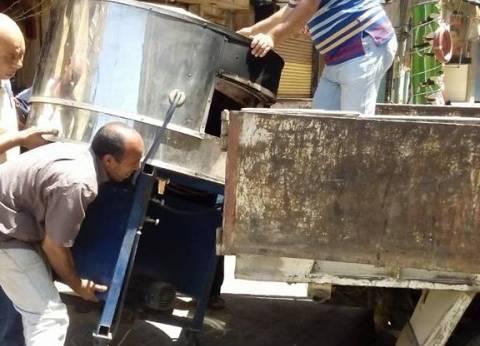 حملة لرفع التعديات بحي شرق الإسكندرية