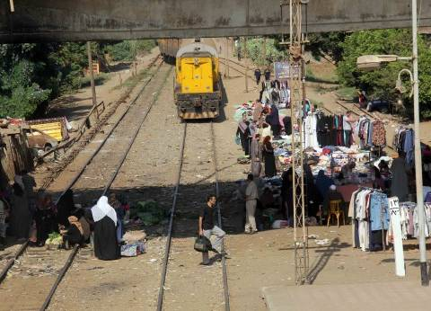 انتظام حركة سير القطارات بعد حادث خروج قطار عن القضبان في الشرقية