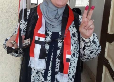 البرلمانية مايسة عطوةتدلي بصوتها في الانتخابات الرئاسية بالجيزة