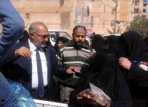 """""""تضامن مطروح"""" توزع 25 طن لحوم على الأكثر احتياجا.. و10 أطنان في رمضان"""