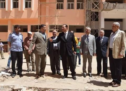 رئيس جامعة المنوفية يتابع تجهيزات مسجد الحاسبات والمعلومات النهائية