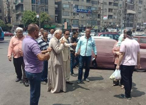 بالصور| حي النزهة يحرر 42 محضر ضد مخالفات المحلات