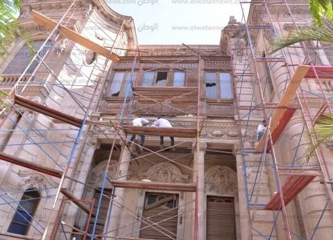 بالصور| استمرار أعمال تطوير قصر ألكسان الأثري بأسيوط للاستفادة منه