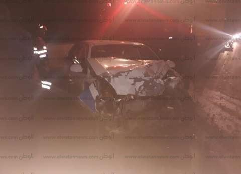بالصور| إصابة 3 أشخاص في حادث تصادم سيارتين بجنوب سيناء