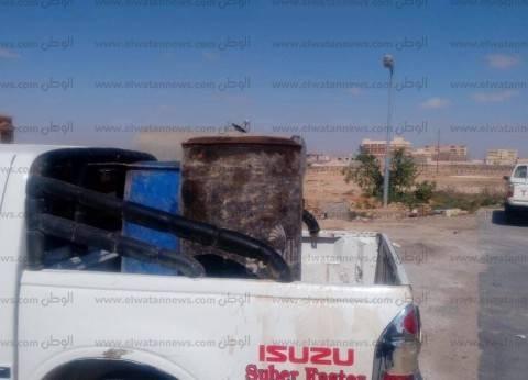 ضبط سيارة محملة بالسولار قبل بيعها بالسوق السوداء في البحر الأحمر