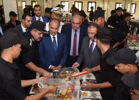 محافظ الإسكندرية ومدير الأمن يزوران معسكر مرغم