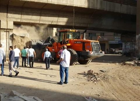 محافظ الجيزة: رفع 210 طن قمامة وإزالة الإشغالات المخالفة بالعمرانية