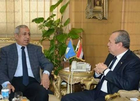 بالصور| محافظ دمياط يستقبل رئيس الأكاديمية العربية البحرية للعلوم والتكنولوجيا