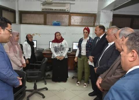 لجنة الشكاوى بمجلس الوزراء تتفقد إدارة البوابة الإلكترونية في الشرقية