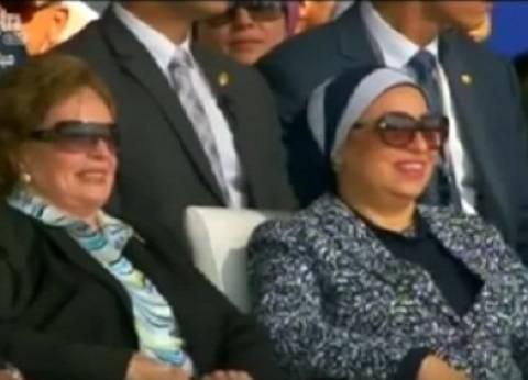 """""""انتصار السيسي"""" على خطى تحية عبدالناصر: """"ظهور محدود لقرينة الرئيس"""""""