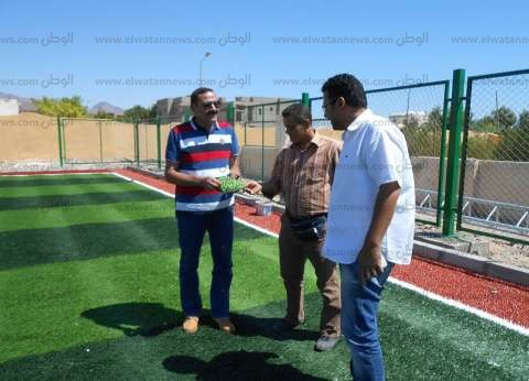 بالصور| رئيس مدينة دهب يتفقد أعمال التطوير والإنشاءات