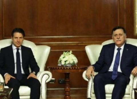 رئيس وزراء إيطاليا في ليبيا للقاء السراج وحفتر
