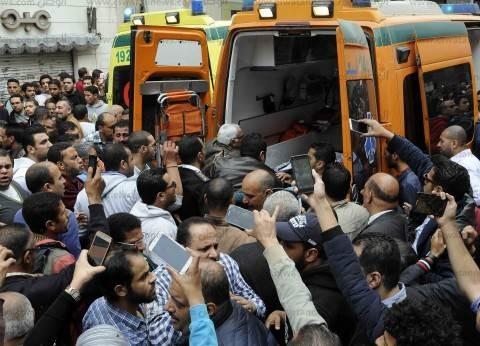 عاجل| وصول مصاب في تفجير كنيسة مارجرجس إلى معهد ناصر
