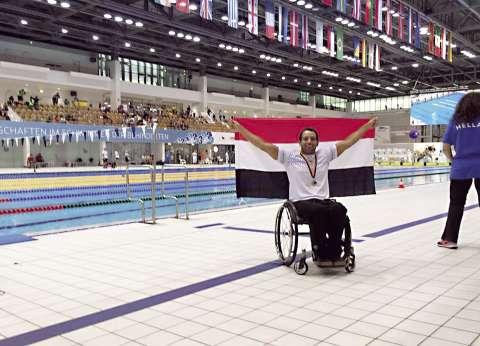 أول مصرى على كرسى متحرك فى مسابقة «الرجل الحديدى»: «إسلام» خير من يمثلكم