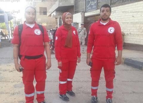 """""""شاش وقطن وبيتادين"""".. """"الهلال الأحمر"""" بالجيزة يدعم الناخبين"""