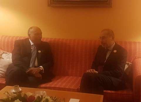 وزير الخارجية يبحث عددا من القضايا الإقليمية مع نظيره الأردني