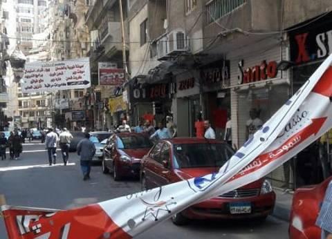 حملة لإزالة الإعلانات المخالفة بنطاق حي شرق بالإسكندرية