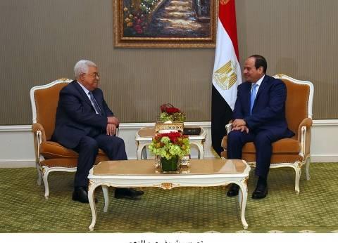 السيسي يؤكد لأبومازن استمرار جهود مصر لاستعادة الفلسطينيين حقوقهم