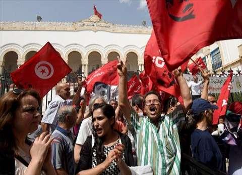 محامون تونسيون يتظاهرون ضد مشروع قانون المالية