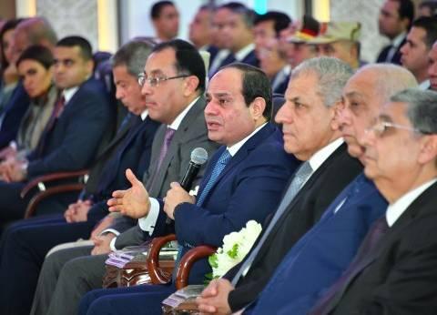 السيسي يستمع لشرح عن جهود الدولة في التموين خلال زيارته لبني سويف