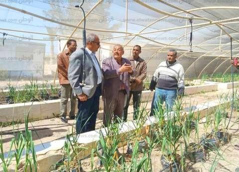 رئيس مدينة رأس سدر يتفقد محطة بحوث صحراء جنوب سيناء